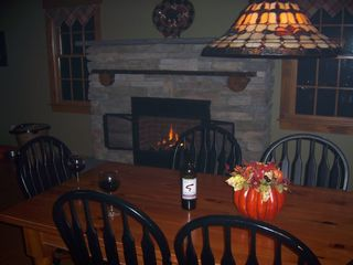 Dining Room with Fireplace - Pittsfield house vacation rental photo
