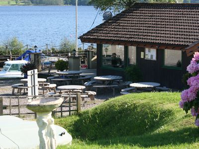 Aberfeldy, Loch Tay and Glen Lyon chalet rental - The Boathouse Restaurant at the harbour