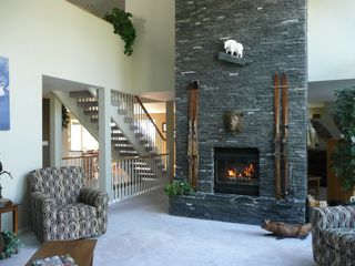 Canmore house photo - Great Room Fireplace