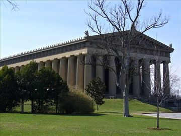 A replica of the Greek Parthenon is as close as Nashville's Centennial Park.