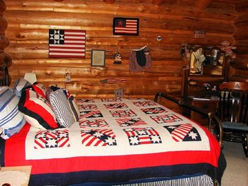 Stars and stripes room, King size bed on the main