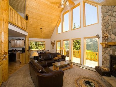 Dramatic Vaulted Great Room, Sunshine Filled  Windows, Romantic Wood Fireplace!