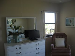 Ormond Beach condo photo - Master bedroom north window and TV