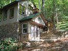 Side of Eco cabin - Bryson City house vacation rental photo
