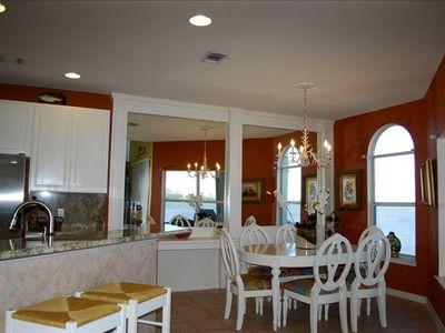 Enjoy fully stocked kitchen & dinning area. Enjoy the scenery too!
