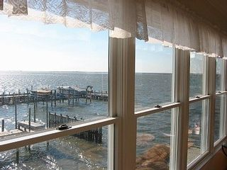 Reverse living. View from upstairs living room. - Holgate house vacation rental photo