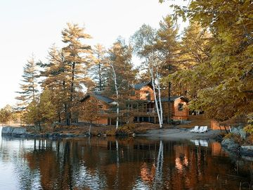 Loghaven in the Fall. View from the Lake