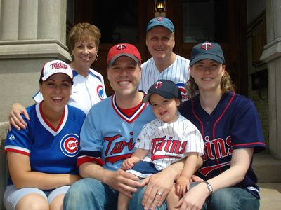 The Salyards Family on Twins-Cubs Weekend in Wrigleyville