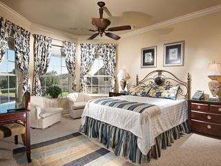 Formosa Gardens villa photo - The Ascot Suite - Queen bed. Desk & armchairs.