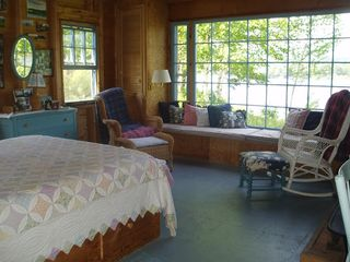 Baddeck house photo - Master Bedroom with Breath-taking View of the Lakes