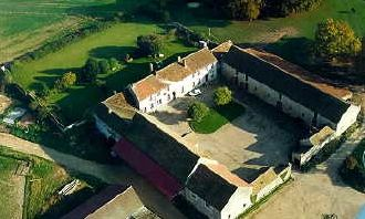 Aerial View of 12th Century Farm