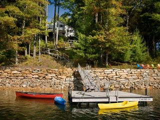 Cashiers house photo - Private Boat Dock and Walkway Leading to Cottage