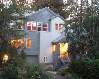 Crystal Bay house rental - Lake Tahoe is across the quiet street w/ beautiful lake & mtn views from inside.