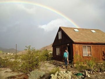 Joshua Tree cabin rental - Pot of gold at the end of a rainbow. Photo credit - Outward Bound