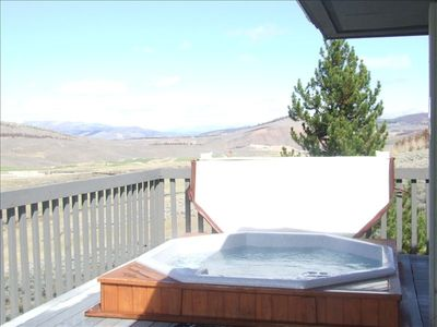 Hot Tub at private clubhouse with beautiful views