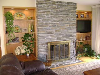 Whitefield house photo - functional fireplace