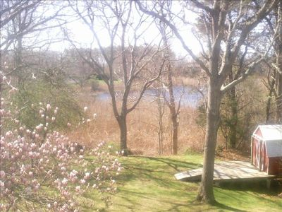 Fabulous waterview garden with tidal marsh and wildlife