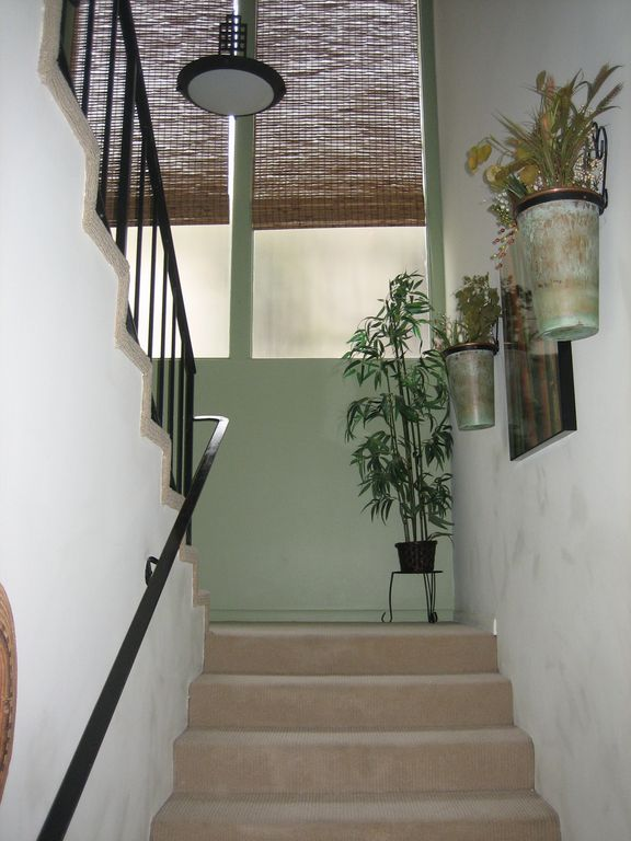 Journey up the stairs to the 3 Bedrooms and 2 Baths
