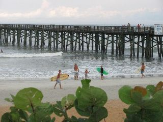 Flagler Beach house photo - If you fish, the pier is just three blocks away
