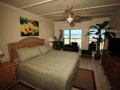 Master Bedroom and view of the Gulf.