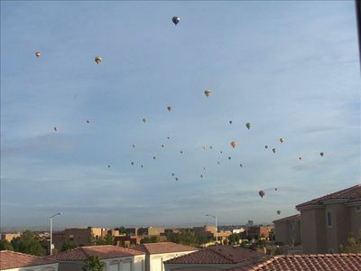 Sometimes the Balloons from the Balloon Fiesta fly right over the Condo Complex