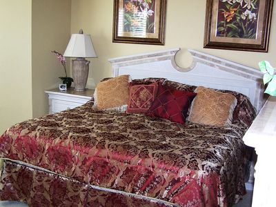 Tastefully decorated - King - Master Bedroom with walk in closets.