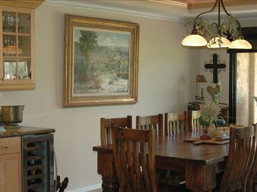 Dining Area with Seating for 10 ~ Wet Bar with Wine Cooler