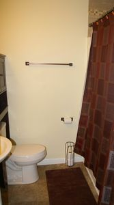 Master private bath with tub/shower and plenty of storage