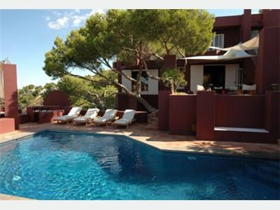 deluxe villa 10 people beach ibiza