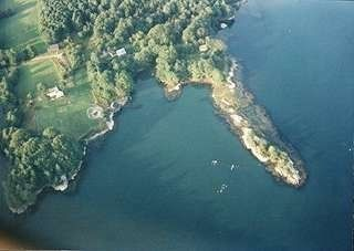 Westport Island cottage photo - Aerial view of The Farm and Greenleaf Cove.