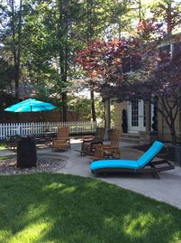 Sandusky house rental - Back yard relaxation