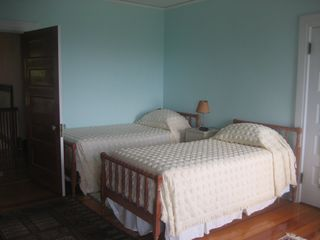 Seal Harbor house photo - Twin Bedroom with adjoining bath, Ocean view and adjoining porch