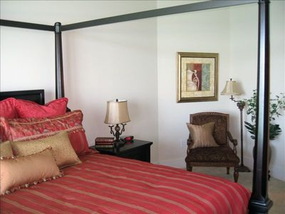 The Master Suite Includes a Beautiful Four Poster Bed.