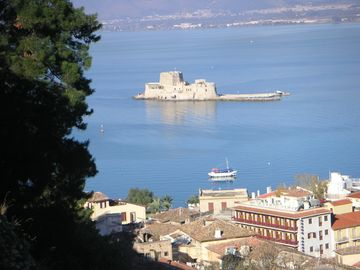 The Bourtzi, protecting Nafplion harbour