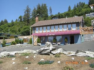 Depoe Bay townhome photo - View of rental building from Hwy. 101