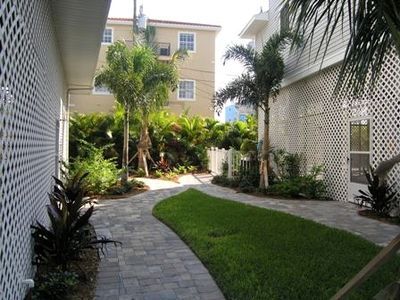 Siesta Key townhome rental - Beautiful landscaping throughout...