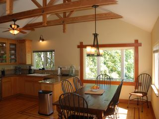 Russian River house photo - Another view of kitchen with window views to river and deck