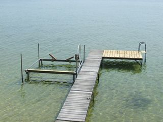 Traverse City cabin photo - Dock and boat hoist
