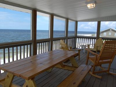 Alligator Point cottage rental - Relaxing screened in porch. Enjoy a cold beverage and eat with the family!