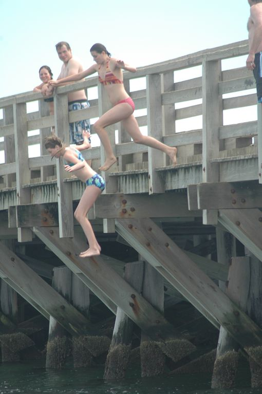 Jumping off Memorial Bridge/ Beach Road