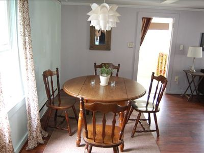 The dining room, perfect for leisurely meals or family game night!