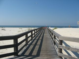 Gulf Shores condo photo - Bordwalk across natural dunes to beach