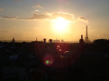Sunset in Paris (View from the apartment )