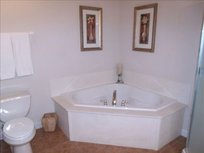 Jetted tub in very large master bathroom