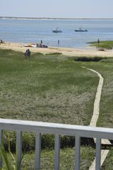 Chatham house photo - Beautiful upper deck with 180 degree views of Chatham Harbor, outer beach/ocean.