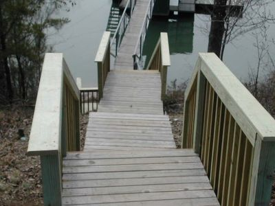 New upgraded walkway to dock