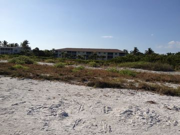View of condo building from the beach - see how close it is!