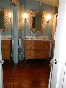 Masterbath with large closet