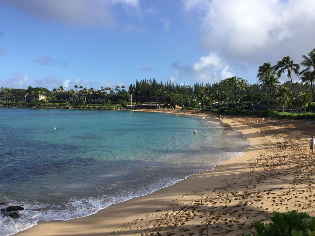 Beautiful Napili Bay right outside your room.