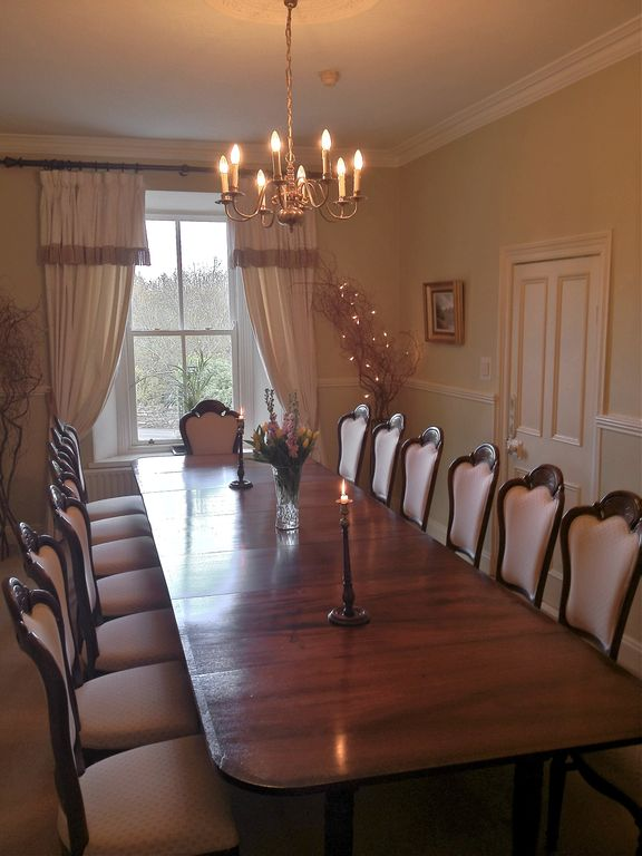 Dining room - with 15 ft French mahogany table